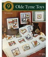 Olde Tyme Toys Cross Stitch Pattern by Just Cross Stitch Kids Castle Bik... - $5.50