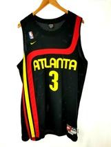Nike NBA Atlanta Hawks Jersey Shareef Abdur Rahim #3 Size XXL+2 Length T... - $28.04