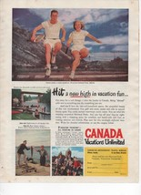 Canada Vacations Unlimited Vintage Print Ad Canadian Government Travel B... - $7.99