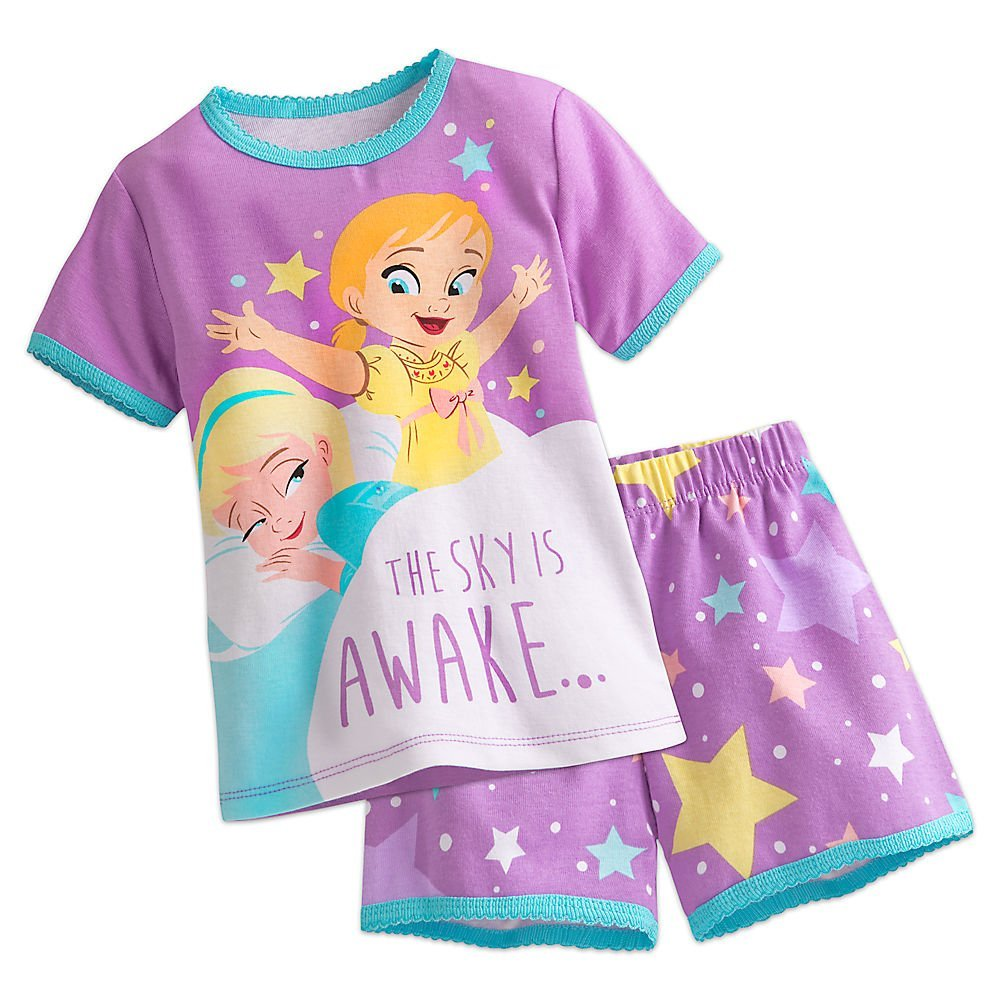 Disney Frozen PJ PALS Pajamas Short Set for Girls Size 6 449023203805