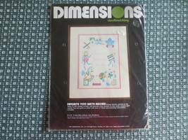 "1983 Dimensions FAVORITE TOYS BIRTH RECORD Candlewicking SEALED Kit - 9""... - $7.92"