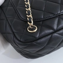 AUTHENTIC CHANEL QUILTED BLACK LAMBSKIN BACKPACK BAG GHW image 6