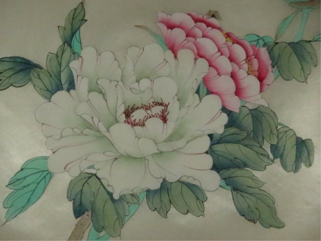 Fabric art painting on silk flowers and and similar items mightylinksfo