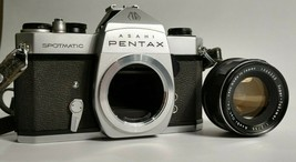 Asahi Pentax Spotmatic Camera with 1:2/55 Lens - Made in Japan - Works - $69.95