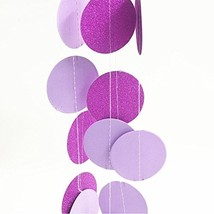 Polka Dot Garland, 5 Pack Hanging Glitter Paper Garland Circle Dots Wedd... - $10.44