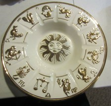 Vintage  Ceramic Zodiac Signs Ashtray Hand crafted - $57.00