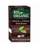 Indus Valley 100 Percent Organic Hair Color, Dark Brown, 100g - $13.81