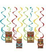 Tiki Time 8 Ct Dizzy Danglers Hanging Decorations Summer Luau Pool Party - £3.36 GBP