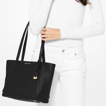 Michael Kors Whitney Medium Black Leather Tote NWT image 8
