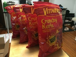A CHICAGO Original 4 Bags Vitner's Sizzlin Hot Cheese Crunchy Curls 5.75... - $29.65