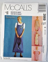 McCall's 2669 Cut to Fit 1 Hour Dress Jumper Tote Sewing Pattern Uncut - $7.43