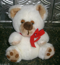 VINTAGE COMMONWEALTH LUSH PLUSH TEDDY BEAR STUFFED ANIMAL BEAR WHITE 198... - $9.05