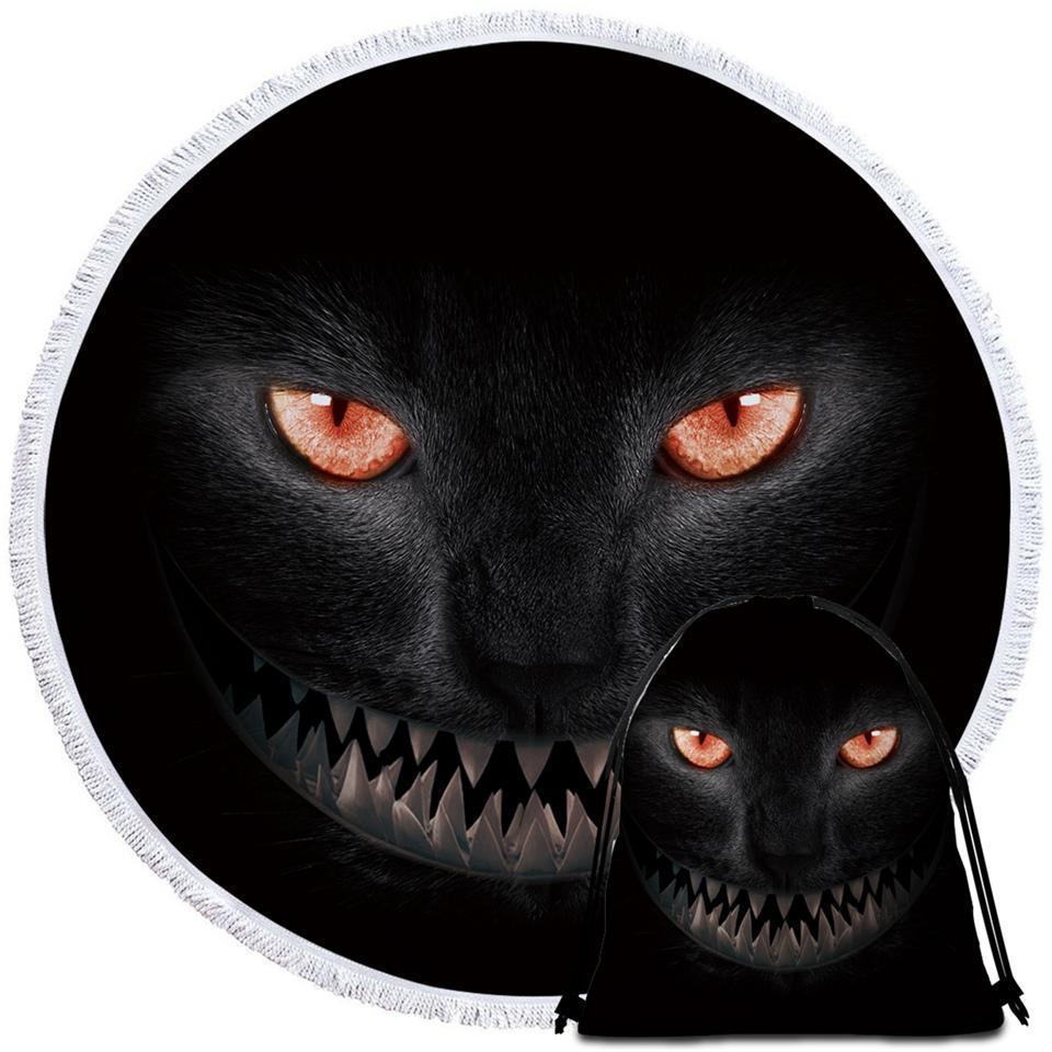 Scary Black Cat Beach Towel - $12.32 - $35.93