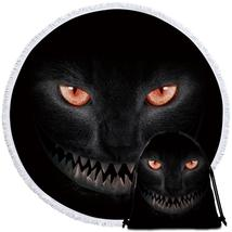 Scary Black Cat Beach Towel - $12.32+