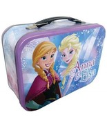 Walt Disney's Frozen Anna and Elsa Large Carry All Tin Tote Lunchbox, NE... - $20.08