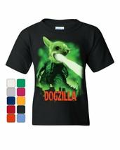 Dogzilla Funny Youth T-Shirt Movie Parody Dog Pet Lovers Atomic Breath Kids Tee - £5.94 GBP+