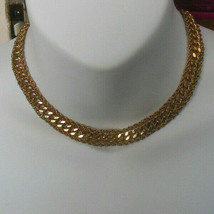 Vintage Kramer Of New York Gold-tone Chain Choker Necklace  - $44.55