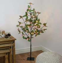 Wedding 1.2cm Holly Leaf Tree with Red Berries - $87.19