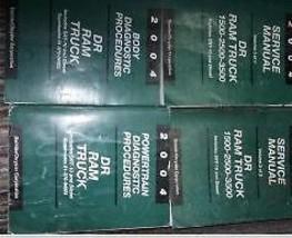 2004 Dodge Ram Truck 1500 2500 3500 Servicio Shop Manual Reparación Juego Diesel - $459.42