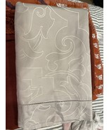 Sferra Avelli King Sham Pearl Egyptian Cotton/Silk Sateen Woven Jacquard... - £22.90 GBP