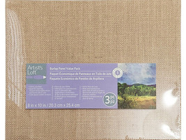 Artist's Loft Burlap Panel Board Value Pack, Perfect for Mixed Media, Set of 3