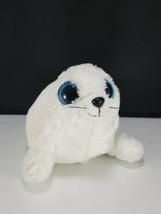 "TY Beanie Boo Iceberg the White Seal 2012 Solid Eyes 6"" Plush Stuffed  - $12.86"