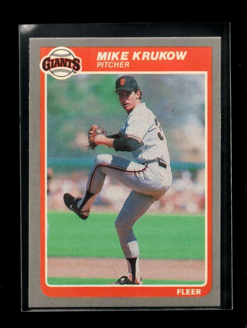 1985 FLEER #609 MIKE KRUKOW NMMT GIANTS