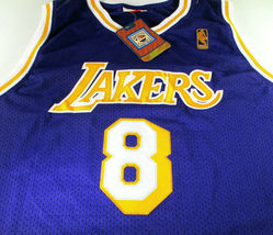 KOBE BRYANT / AUTOGRAPHED LOS ANGELES LAKERS THROWBACK BASKETBALL JERSEY / LOA image 2