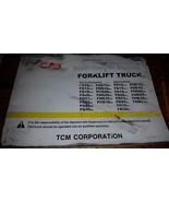 ONE TCM FORK LIFT TRUCK OPERATION & MAINTENANCE MANUAL FG FHG FD FHD 10-36 - $38.61