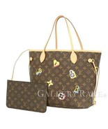 LOUIS VUITTON Neverfull MM Love Lock Tote Bag M44364 France Authentic 53... - $2,073.20