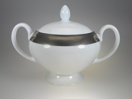 Wedgwood Satine Platinum Covered Sugar NEW WITH TAGS Made in UK - $42.52