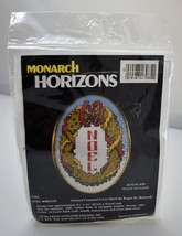 Noel Wreath Printed Counted Cross Stitch Kit by Monarch Horizons - with ... - $6.60