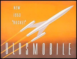 1953 Oldsmobile Rocket Brochure Original 53 - $9.80