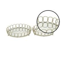 Modern Silver Decorative Round Ring Mirror Trays (Set of 2) - $1.441,74 MXN