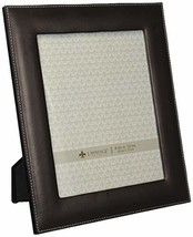 Lawrence Frames Dark Brown Leather 8 by 10 Picture Frame - $15.27