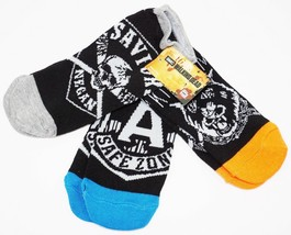3 PC WALKING DEAD LOW CUT SOCKS 7-12 - AMC MULTI FACTIONS LOGOS 2017 STY... - $9.88