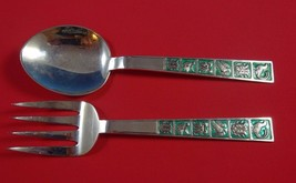 David Andersen Sterling Silver Salad Serving Set Two Piece with Birds an... - $489.00