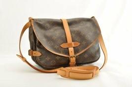 LOUIS VUITTON Monogram Saumur 30 Shoulder Bag M42256 LV Auth kh016 - $320.00