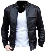 Mens Black genuine Bespoke  cowhide Leather Jacket Real Bespoke  Leather Jacket - $118.79+
