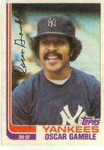 1982 Topps Oscar Gamble New York Yankees #472 Baseball Card - $1.97