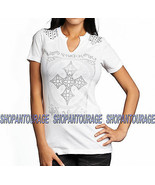 Affliction Pure Heart AW11571 Short Sleeve Fashion Graphic T-shirt Top f... - $47.53
