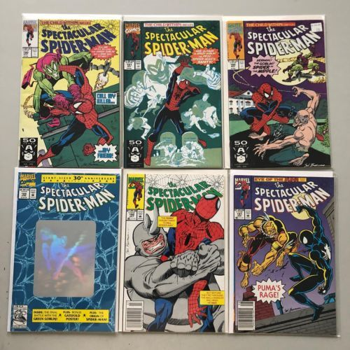 Lot of 12 Spectacular Spider-Man (1976 1st Series) from #180-231 VF Very Fine