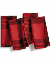 Homewear Holiday Collection Blitzen Plaid Napkin Set - $12.86