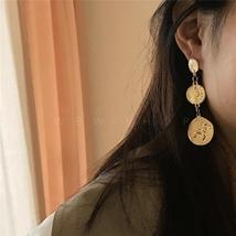 Amun Gold Coin Drop Earrings - $24.95