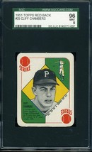 1951 TOPPS RED BACK #25 CLIFF CHAMBERS SGC 9 *DS2217 - $91.00