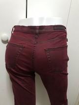 New Rock & Republic Burgundy Straight Leg Jeans 8 - $48.51