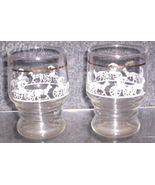 ANCHOR HOCKING ORANGE JUICE GLASSES - $9.95