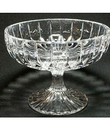 "1 (One) MIKASA PARK LANE Cut Lead Crystal Compote Height: 4 1/8"" DISCONT... - $28.87"