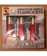 BRAND NEW 3pk Red Shotgun Shell LED Flashlights, w/ Batteries, Free Ship... - $24.99