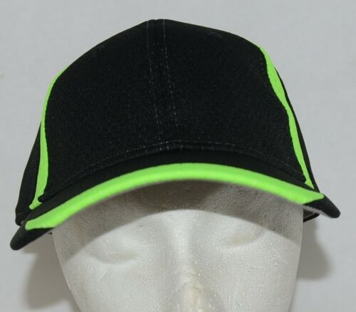 Augusta Sportswear Adult Black And Lime Green Sports Hat